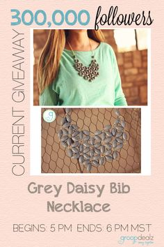 Daisy Bib Necklace @GroopDealz Giveaway! Ends in an hour!
