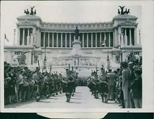 Vintage photo of Massed Pipe bands play in the streets of Rome, 1944. -