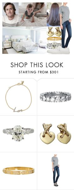 """""""Hearing Josephine say her first word"""" by swedish-princess ❤ liked on Polyvore featuring Stephen Webster, Chaumet, Cartier, AG Adriano Goldschmied and Maison Kitsuné"""
