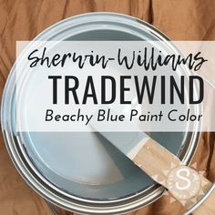 Top Coastal Blue Paint Color Sherwin-Williams Tradewind is among the most popular coastal paint colors preferred by interior designers. Coastal Paint Colors, Best Bedroom Paint Colors, Interior Paint Colors, Paint Colors For Home, House Colors, Interior Design, Paint Colours, Interior Sketch, Interior Painting
