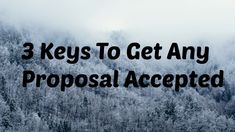 3 Keys To Get Any Proposal Accepted https://www.youtube.com/watch?v=7SFpd6JK8sw&feature=youtu.be via YouTube