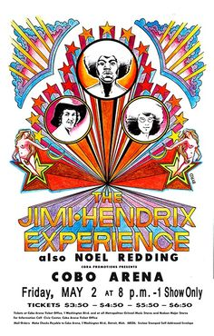 Poster design can be a great source of inspiration, and posters from various musicians, bands, and gigs in particular. In this post we'll showcase 25 vintage rock posters for your design inspiration. Tour Posters, Band Posters, Music Posters, Festival Posters, Concert Posters, Affiche Jimi Hendrix, Beatles, Fillmore East, Jimi Hendrix Experience
