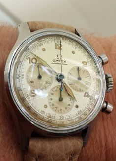 omegaforums: Awesome Vintage OMEGA Calibre 27CHRO Chronograph In Stainless Steel
