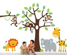 Children's Jungle Wall Sticker Set from notonthehighstreet.com