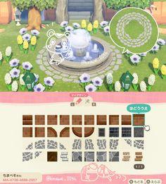 Animal Crossing Funny, Animal Crossing Guide, Animal Crossing Qr Codes Clothes, Animal Crossing Villagers, Path Design, Circle Design, Petunias, Nintendo Switch, Motif Acnl