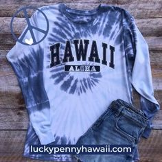 All You Need is Aloha and Tie-dye.  The Lucky Penny Hawaii Collegiate tee. Made from 100% ringspun cotton. Life is too short to wear just one color. Tie Dye Long Sleeve, Long Sleeve Tees, Lucky Penny, Tie Dye Colors, Tie Dyed, One Color, All You Need Is, Hot Pink, Pink