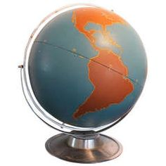 "Large Aviation Globe  1st dibs $1500 H 25"" x 24D"