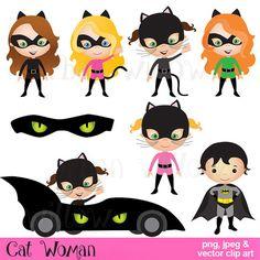 Cat Woman Clip Art Commercial Use OK Batman Clipart от UrbanWillow
