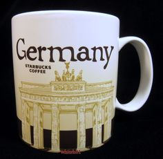 Starbucks Germany Mug Brandenburg v1 Deutsch Linden Neuschwanstein Icon US Ship #Starbucks