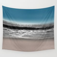 Abstract art, seascape, sand, water, beach, nature, original, mixed media, modern contemporary, innovative. This artwork was created by Jennifer at Jenartanddesign using a photograph of the ocean and beach taken by Jennifer at Jenartanddesign, digital and graphic art media.