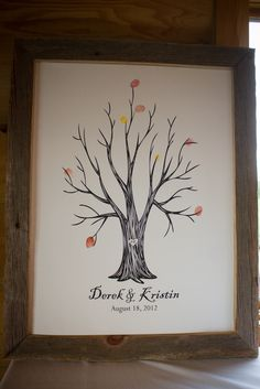 "*Photo by Kelsey Jean Photography*  Our ""guestbook"" tree."