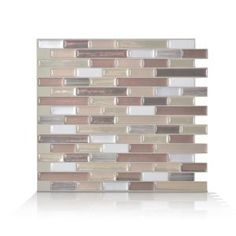 Smart Tiles Muretto Durango Approximately 3 in. W x 3 in. H Beige, Taupe and White Decorative Mosaic Wall Tile Backsplash Sample-SAMSM1053 - The Home Depot