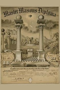 Master Masons Diploma. High quality vintage art reproduction by Buyenlarge. One…