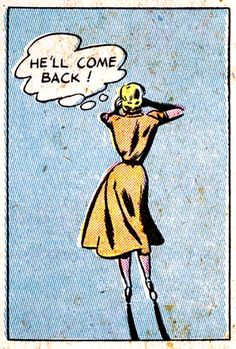 he'll come back! | Girls' Love Stories #20 (1952)