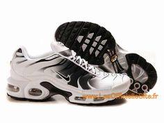 Officiel Boutique Nike Air Max Tn Requin/Tuned 1 Chaussures Blanc/Noir de Basket-ball Pas Cher Pour Homme