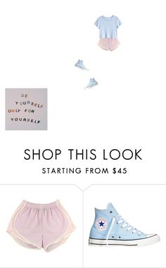 """""""i'm so happy😊"""" by cande827 ❤ liked on Polyvore featuring Converse and H&M"""