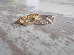 Infinity Rings/Midi Rings (Best Friend Rings) Silver Tone Back In Stock! on Etsy, Best Friend Rings, Infinity Rings, Friendship Rings, Knuckle Rings, Midi Rings, Vintage Marketplace, Stacking Rings, Besties, Jewelry Rings
