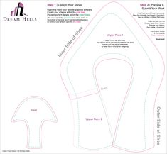 High heeled gumpaste shoe template free wordpress for High heel shoe template craft