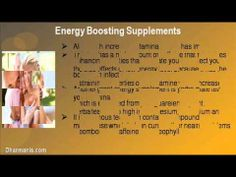 This video describe about how to increase your stamina by using energy boosting supplements. You can find more detail about Sfoorti Capsules at http://www.dharmanis.com