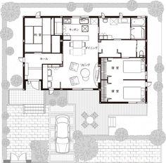"""セキスイハイムの平屋「楽の家」は、将来を見据えた永住にふさわしい住まい。コンパクトで暮らしやすいワンフロアで、人生を""""楽しみ""""ながら、""""楽""""に過ごしませんか。"""
