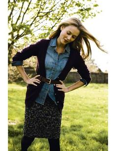 A denim shirt to wear with the new spring Madewell Navy Polka Dot Pencil Skirt or with khaki shorts for summer.