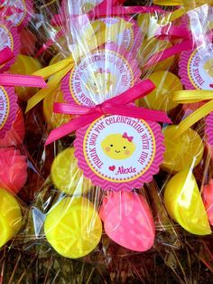10 LEMONADE SOAP FAVORS (With Tags & Ribbon) - Strawberry Lemoade Party, Strawberry Soap Favors, Lemon Soaps, Birthday favors, 1st Birthday