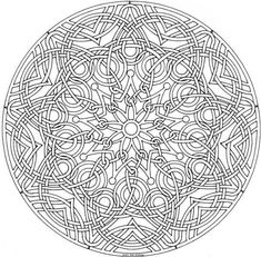 Detailed Coloring Pages For Adults | This is a beautiful geometric challenge that is sure to delight! Description from pinterest.com. I searched for this on bing.com/images