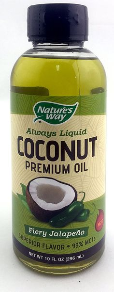 Nature's Way Always Liquid Premium Coconut Oil with Superior Fiery Jalapeno Flavor 93% MCTs Net Wt 10 Fl. Oz. ** To view further for this item, visit the image link.