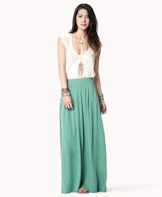 Pleated Maxi Skirt | FOREVER21 - 2038175608