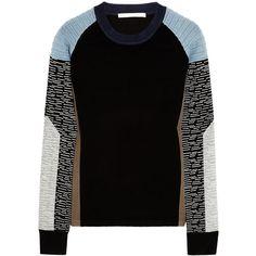Jonathan Simkhai Color-block jersey sweater found on Polyvore