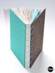 MIU | encadernação artesanal: encadernação copta | Coptic Stich Bookbind
