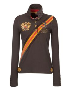 Joules equestrian style ~ looks like a Gryffindor shirt!!