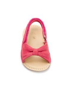 bb  sandale en cuir avec nœud - Chaussures - MINI (0-9 mois) - Enfants - ZARA France