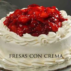Pasteleria Suspiros  (Fresa con Crema)