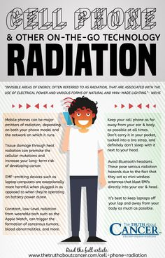 It might be invisible to the naked eye, but electric and magnetic fields (EMFs), including electromagnetic radiation, are everywhere these days, and chances are it's taking a major toll on your health. Click on the image above to learn what EMF's are and on-the-go technology dangers.