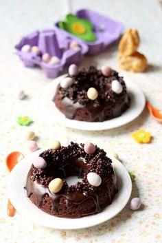 Nid de Pâques Moelleux au chocolat et quinoa soufflé Quinoa Soufflé, Pudding, Cake, Holiday, Desserts, Food, Easter, Drink, Spring