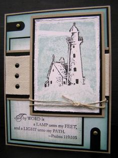 CC lighthouse by blessingsX3 - Cards and Paper Crafts at Splitcoaststampers using Stampin Up A Light Unto My Path