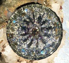 Orgone Charging Plate ~ Aligning Galaxies ~ Custom Orgonite