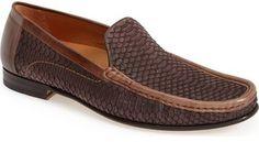 Mezlan 'Marius' Watersnake Embossed Venetian Loafer (Men)