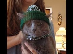Basic Crochet Dog/Cat Hat Tutorial Size:Medium - YouTube