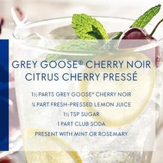 Grey Goose Cherry Noir Citrus Cherry Presse