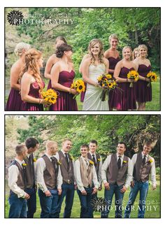 Maroon and tan wedding colors - country wedding photography - Endless Images Photography Photo-Blog