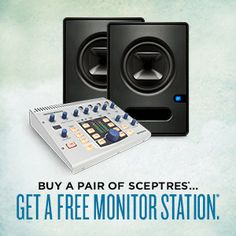 Buy Sceptre Monitors, get Monitor Station FREE – a $299 value! Click here for more info: http://www.presonus.com/community/blog/index.php/2014/01/01/new-gear-for-the-new-year/