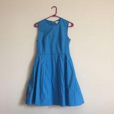 Fit&Flare Dress Dress with black zipper closure. NWT. GAP Dresses