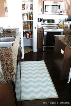 House of Smiths Painted IKEA Rug 