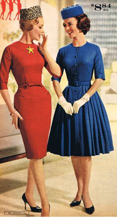 60's pill box hats and dresses/ such a classy look
