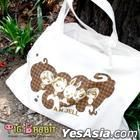 You're Beautiful - Pig Rabbit Check Pattern Eco-bag