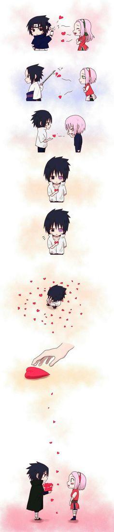 😍😍😍 Sasuke: your so annoying Sakura: sasuke.😯 Sasuke: f**k off Sakura: sasuke please😢😭 Sasuke: . Otaku Anime, Anime Naruto, Naruto Comic, Manga Anime, Naruto Shippuden Sasuke, Sakura E Sasuke, Naruto Cute, Naruto Sasuke Sakura, Kakashi