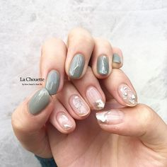 nails how to Korean Nail Art, Korean Nails, Blue Nails, My Nails, Beauty Hacks Nails, Basic Nails, Minimalist Nails, Nail Arts, Swag Nails