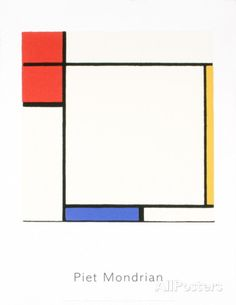 Composition with Red, Yellow, and Blue Serigraph by Piet Mondrian Panel Wall Art, Wall Art Sets, Large Wall Art, Framed Wall Art, Yellow Home Accessories, Yellow Home Decor, Contemporary Wall Art, Modern Wall Decor, Blue Poster
